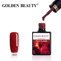 #012R Гель-лак Golden Beauty RED FLAME 14мл.
