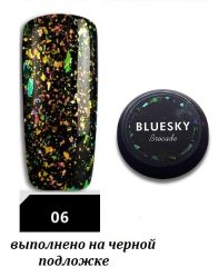 №06 Гель Bluesky Brocade (парча) 5мл.
