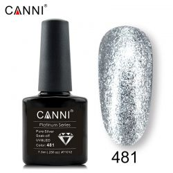 №481 Гель-лак CANNI Platinum Pure Silver 7,3мл.