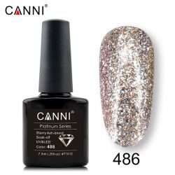 №486 Гель-лак CANNI Platinum Starry Ash-blond 7,3мл.