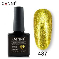 №487 Гель-лак CANNI Platinum Golden Platinum 7,3мл.