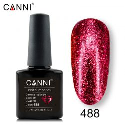 №488 Гель-лак CANNI Platinum Darkred Platinum 7,3мл.