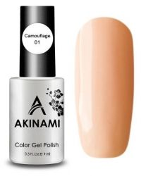 Камуфлирующий тон AKINAMI Color Gel Polish Camouflage 01
