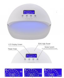 UV-LED лампа  50 Ватт (таймер, датчик движения,дисплей)