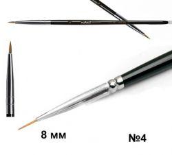 Кисть для дизайна Nail Art Nylon, 8 мм №4 Runail Professional