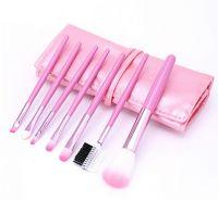 ML-mix-6A Набор искусственных и натуральных кистей в розовом футляре