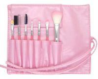 ML-mix-7E Набор искусственных и натуральных кистей в розовом футляре