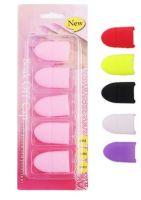 Силиконовые колпачки для снятия гель-лака (5 шт/упак) (цвета в ассортименте)