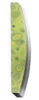Пилка-баф (полукруглая, рисунок «Абстракция зеленая», 100/180) Runail Professional