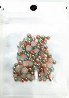 MZH-09-07 Жемчужины Pink Bronze-Blue Pearl разноразмерные