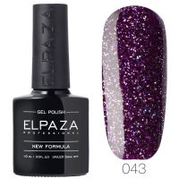 №043 Гель-лак ELPAZA Пурпурный дождь 10мл.
