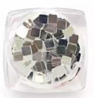 Пайетки зеркальные (квадраты) Runail Professional