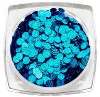 Пайетки голографические (синий) Runail Professional
