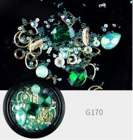 Украшения MIX в баночке Emerald
