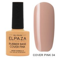 ELPAZA №004 Rubber Base Cover Pink Каучуковое базовое камуфлирующее покрытие покрытие 10мл.