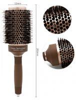 Термобрашинг для волос натуральная щетина Ceramic + Ion керамико-ионное покрытие d 53 мм