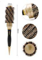Термобрашинг для волос натуральная щетина Ceramic + Ion керамико-ионное покрытие d 32 мм