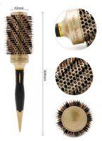 Термобрашинг для волос натуральная щетина Ceramic + Ion керамико-ионное покрытие d 43 мм
