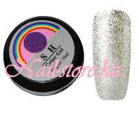 Гель-лак слюда #002 SH Professional Color gel 10мл. (белое серебро)
