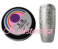 Гель-лак слюда #003 SH Professional Color gel 10мл. (темное серебро)