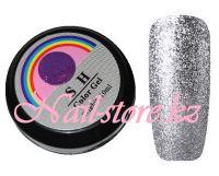 Гель-лак слюда #007 SH Professional Color gel 10мл. (темное серебро)