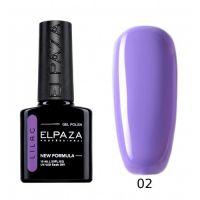 №002 Гель-лак ELPAZA Lilac Ласковый прибой 10мл.