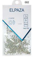 Стразы Crystal ELPAZA №02АВ серебряный голографик SS3, 1440 шт.