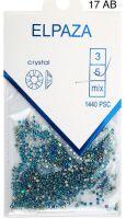 Стразы Crystal ELPAZA №17АВ голубой голографик SS5, 1440 шт.