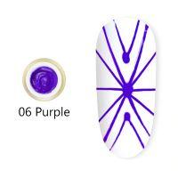 Гель-паутинка #06 Spider gel Purple Canni (фиолетовый) 8мл.