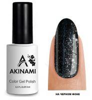 Топ для гель-лака AKINAMI Glitter Top №5, 9мл. (прозрачный с серебряными блестками)