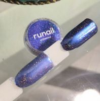Зеркальная пыль для втирки с шиммером Runail professional (сине-фиолетовый) 1,5гр