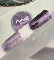 Зеркальная пыль для втирки с шиммером Runail professional (светло-фиолетовый) 1,5гр