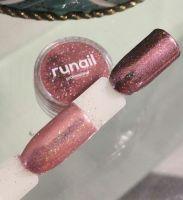 Зеркальная пыль для втирки с шиммером Runail professional (светло-розовый) 1,5гр