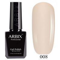 Гель-лак Arbix №008 Слоновая Кость 10мл.