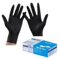 Нитриловые неопудренные перчатки, Dolce Pharm - Цвет черный (р-р S, 50 пар в уп.)