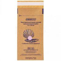 Крафт-пакеты для стерилизации КЛИНИПАК самоклеящиеся 75x100 мм (100 штук в упаковке)
