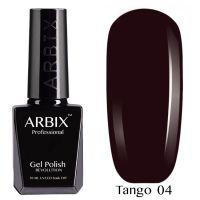 Гель-лак Arbix TANGO Королевская Роскошь №004 10мл. (темно-вишневый)