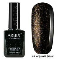 Топ для гель-лака без липкого слоя ARBIX Glitter Top №04, 10мл. (с золотым шиммером)
