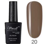Гель-лак VINSALL №020 10мл. (коричневый эмалевый)