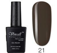 Гель-лак VINSALL №021 10мл. (темно-коричневый эмалевый)