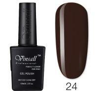 Гель-лак VINSALL №024 10мл. (темно-шоколадный эмалевый)