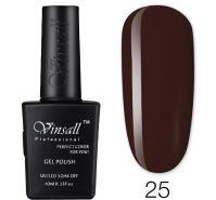 Гель-лак VINSALL №025 10мл. (темно-коричневый эмалевый)