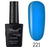 Гель-лак VINSALL №221 10мл. (голубой витражный эмалевый)