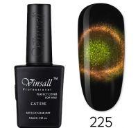 """Гель-лак VINSALL 5D """"Кошачий глаз"""" №225 10мл. (зелено-золотистый)"""
