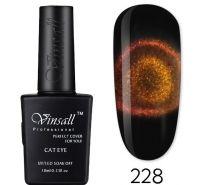 """Гель-лак VINSALL 5D """"Кошачий глаз"""" №228 10мл. (бронзово-золотистый)"""