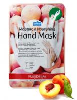 Увлажняющая и питательная маска для рук «PUREDERM» 1пара, персик