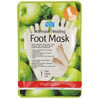 Увлажняющая маска для ног «PUREDERM» 1пара, яблоко