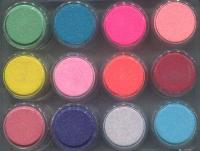 PAN-02 Набор цветных акриловых пудр с блестками12шт (по 2гр.)