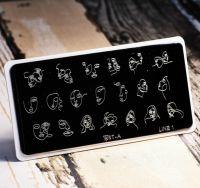 Пластина для стемпинга Art-A LINE 01