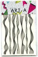 3D наклейка WAVES черный+серебро ART-A
